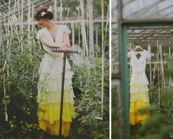 鮮やかなカラーが美しい。色が付いたウェディングドレス (8)