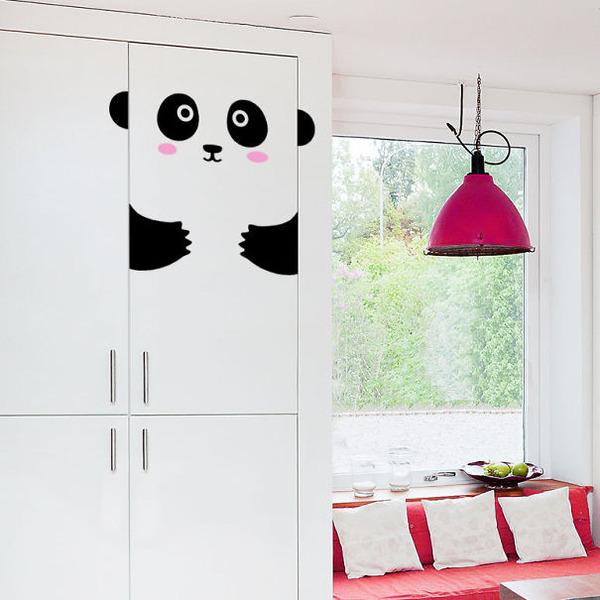 パンダの食器棚ステッカー