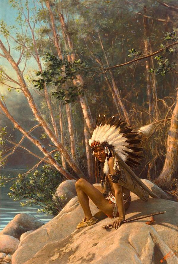 インディアン(ネイティブ・アメリカン)の貴重なカラー化写真 (46)