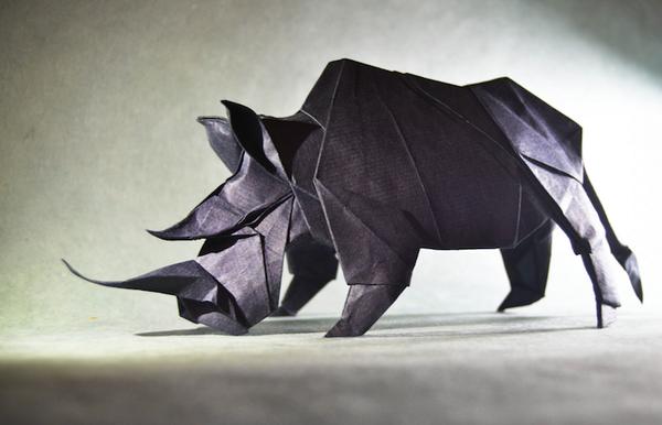 一枚の紙から折り紙で作る動物!折り紙アート (20)