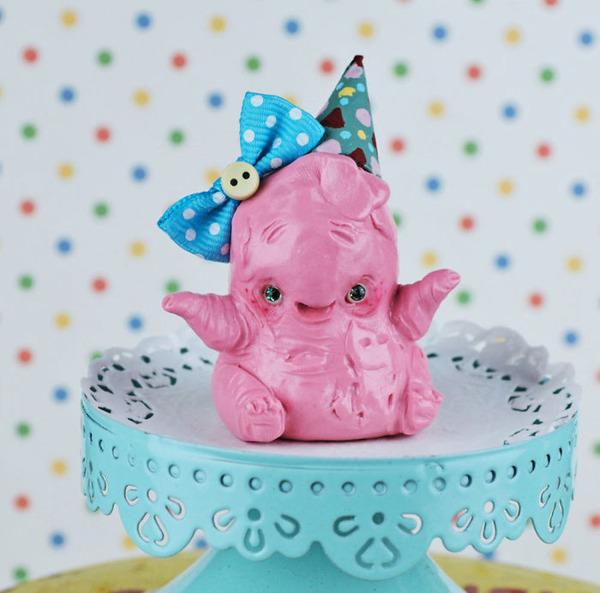 キモカワ!?ポリマークレイ製の手作りクリーチャー人形 (1)