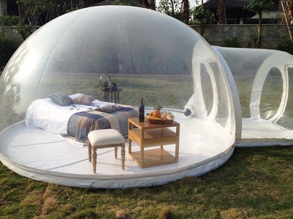 ホイポイカプセルみたいな即席テントで一泊!『Bubble Tent』 (3)