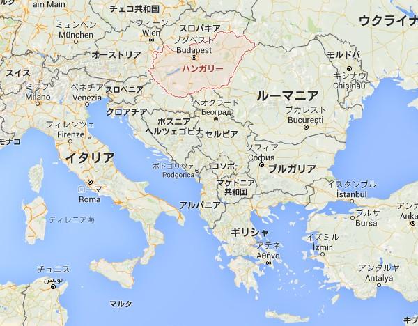 ハンガリーの地図