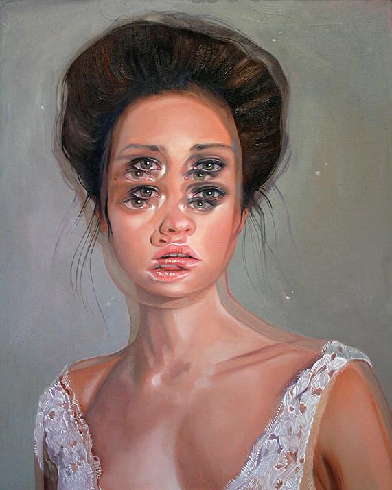 ダブルビジョンの錯視絵画アート  アレックス・ガーランド 6