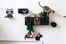 スーパーマリオのステージ風!猫用ジャングルジム(壁)