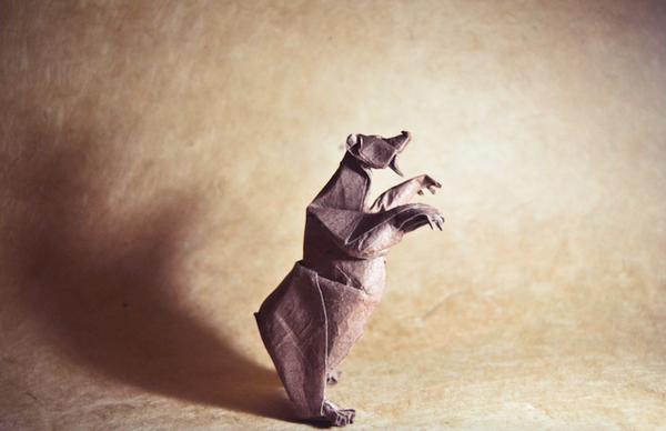 一枚の紙から折り紙で作る動物!折り紙アート (3)