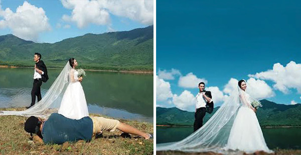 結婚写真の裏で頑張るカメラマンの努力画像 (17)