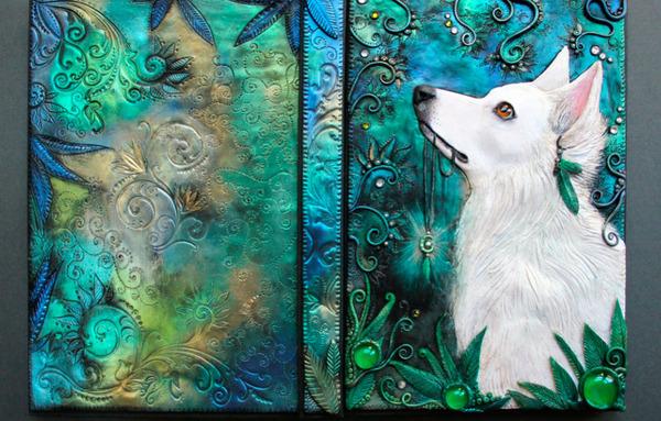 動物や自然をモチーフにした幻想的なブックカバー! (6)