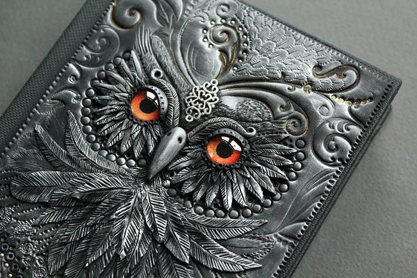 フクロウのブックカバー