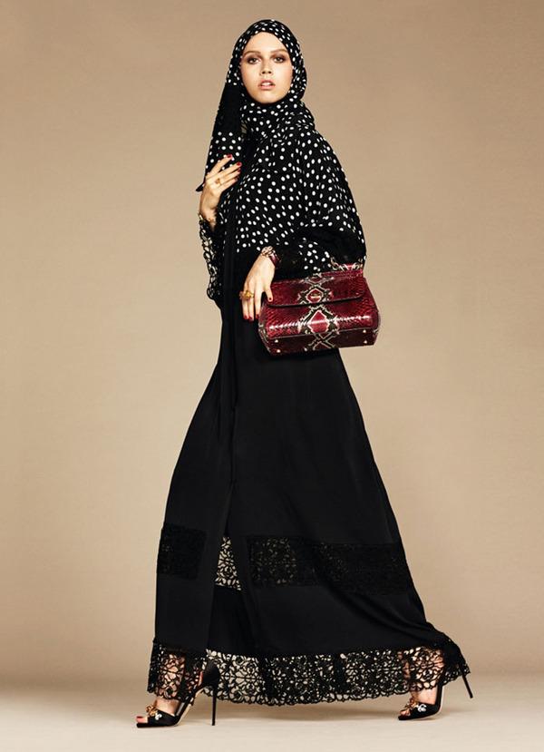ヒジャブとアバヤのモダンファッション by ドルチェ&ガッバーナ (9)