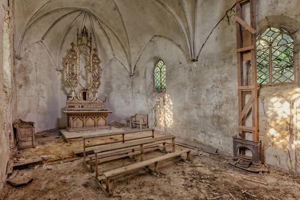 ヨーロッパの廃墟画像!寂れた建物の内観でメランコリック (10)