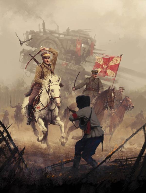 レトロな時代背景に機械的なSF要素。戦争を描いた空想世界 (12)