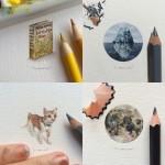 超ミニサイズで繊細な小さいイラスト! by Lorraine Loots