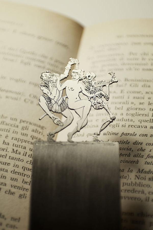 silverleaf 銀の彫刻が施された栞(しおり)5