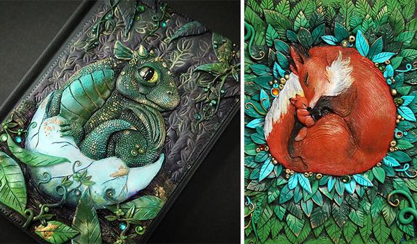 動物や自然をモチーフにした幻想的なブックカバー! (12)