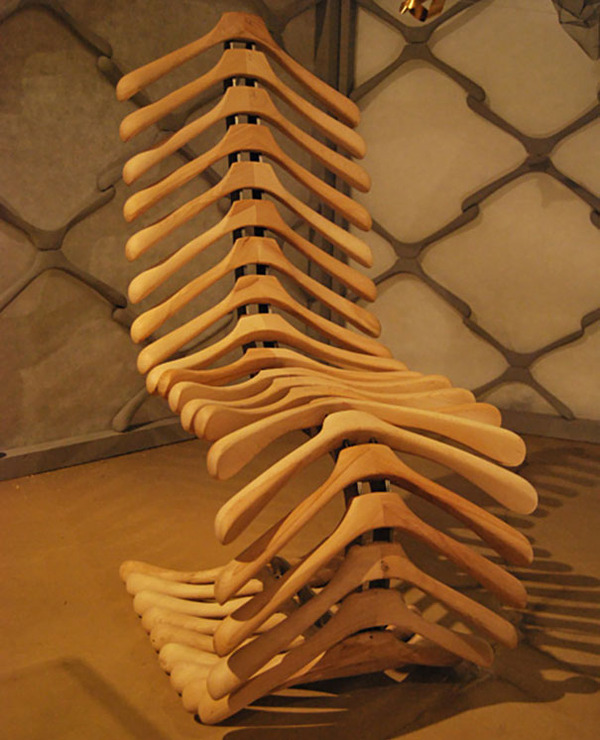 #16 Coat Hangers Turned Into A Chair