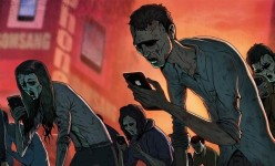 現代社会の悲しい現実を風刺的に描くユニークなイラスト