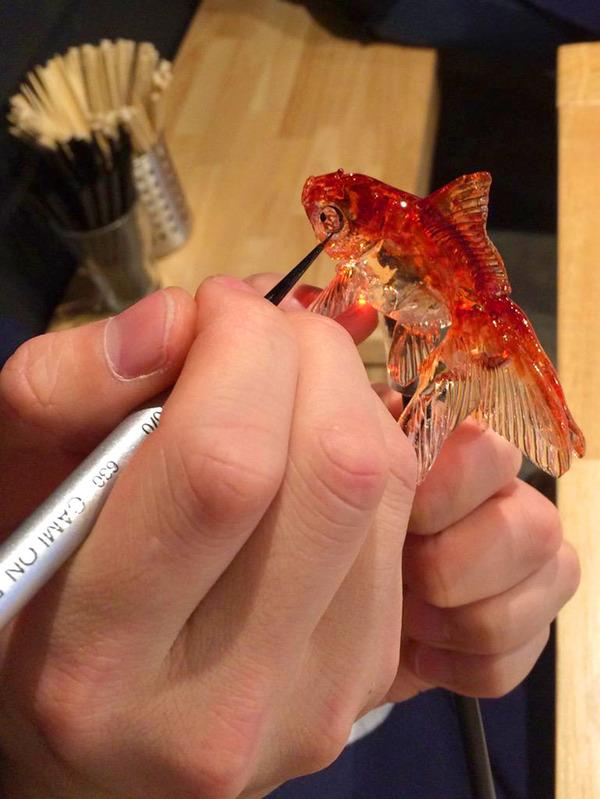 金魚の飴細工 2