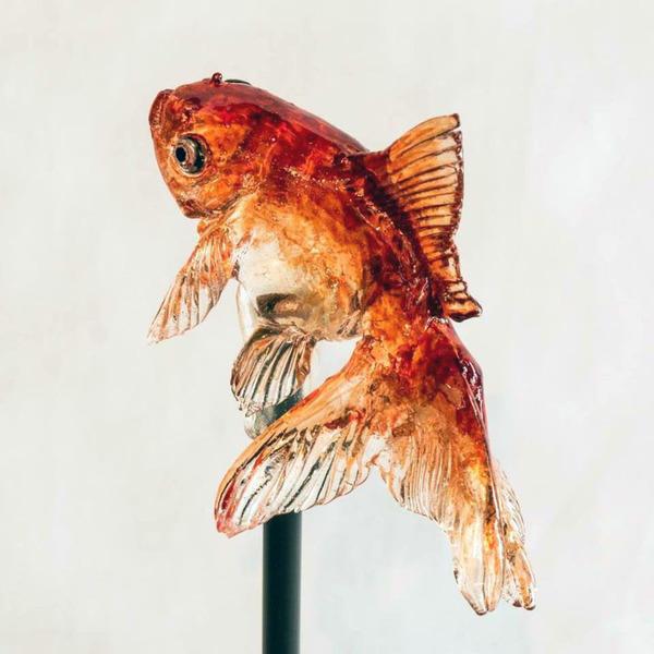 金魚の飴細工 1