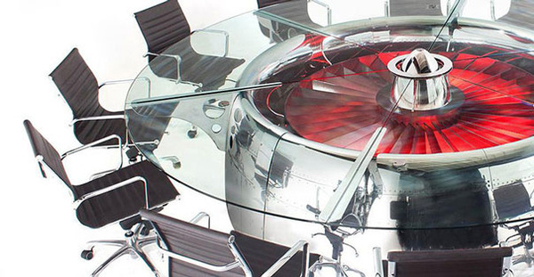 #10 Boeing 747 Jumbo Jet Engine Turned Into Conference Table
