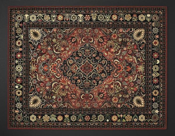 紙で作られた絨毯など、超大作なペーパークイリングアート! (1)