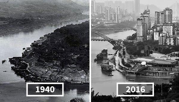 発展した中国の都市風景を比較!過去と現在の画像100年 (4)