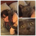 飼い主に抱きつかれたくない時のペットの苦悶に満ちた表情がこれ