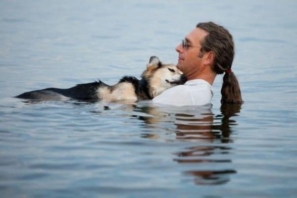 #1 飼い犬のために湖へ