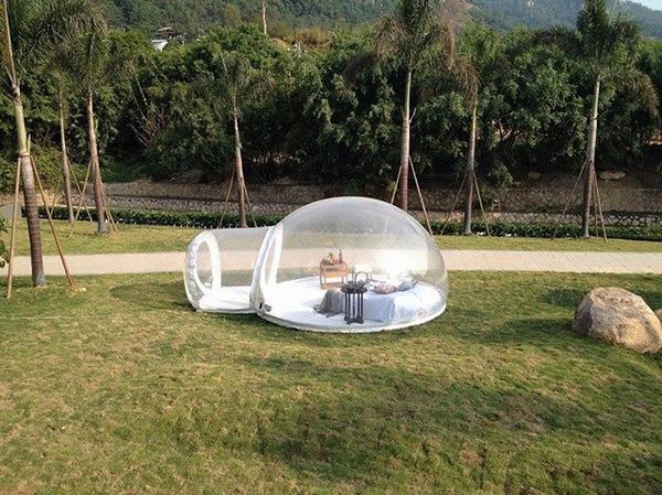 ホイポイカプセルみたいな即席テントで一泊!『Bubble Tent』 (6)