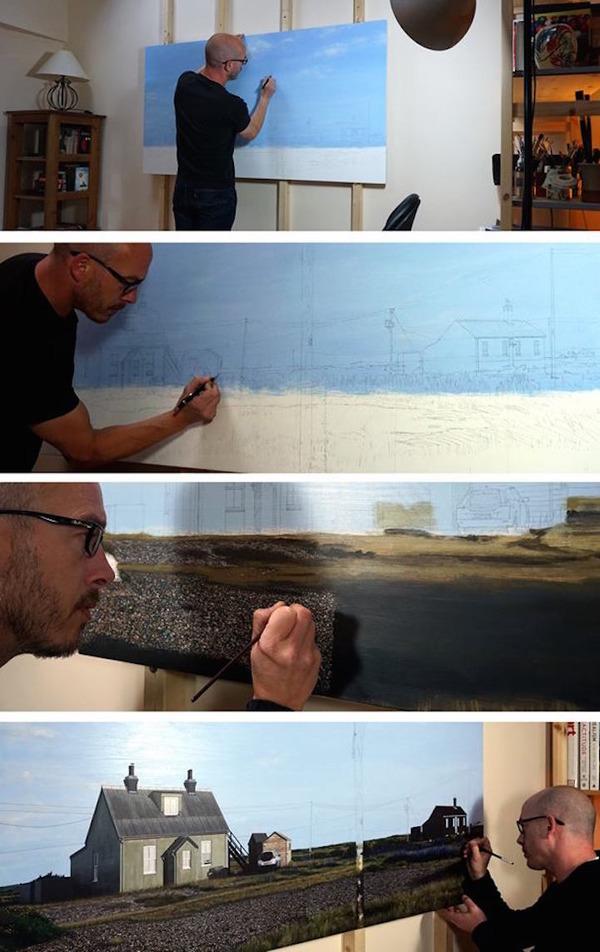 写真と見間違いそう!超精密でリアルな都市風景画 (16)