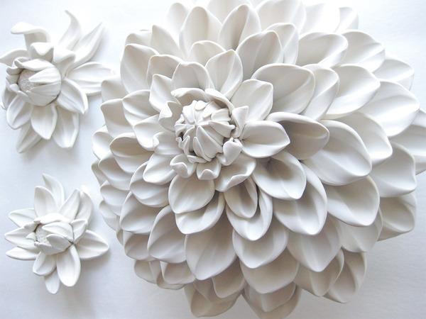 ポリマークレイで手作りのフラクタル彫刻!花やキノコなど (7)