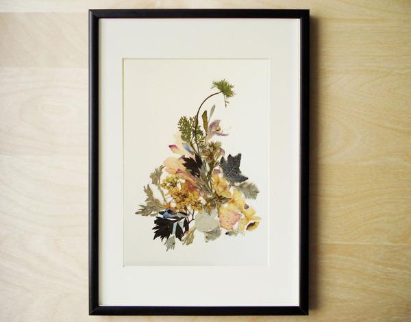 葉や花で自然を描く!植物を素材にした押し花の絵 (8)