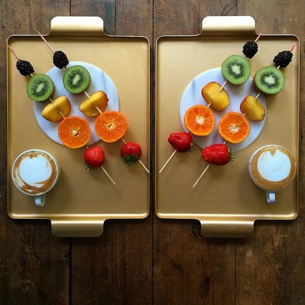 美味しさ2倍!毎日シンメトリーな朝食写真シリーズ (15)