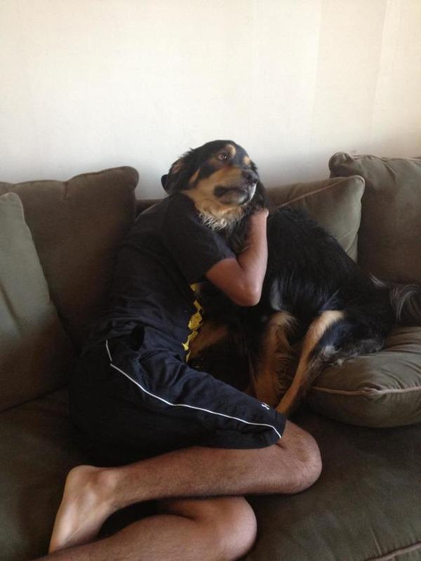 少年の体を手に入れた犬