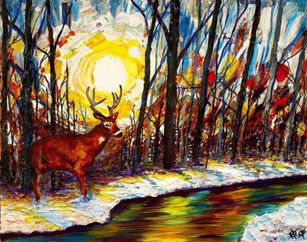 全盲の画家、ジョン·ブランブリットの絵画3