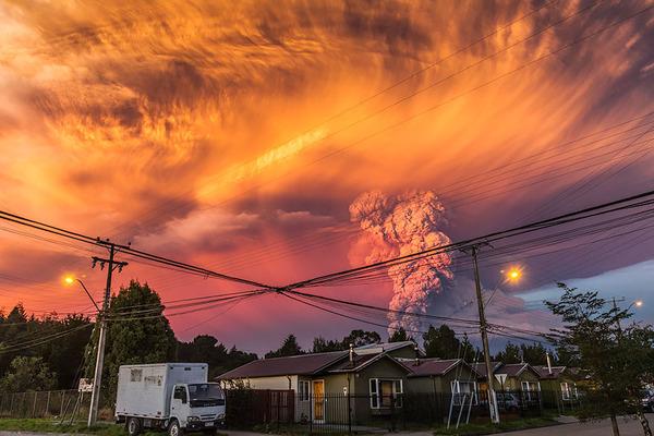 チリのカルブコ火山噴火 2015年 5