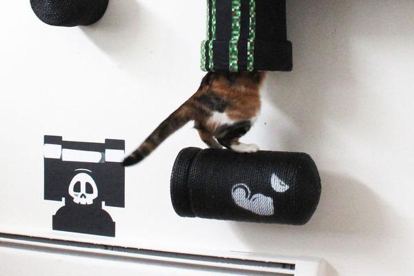 スーパーマリオのステージ風!猫用ジャングルジム(壁)(5)