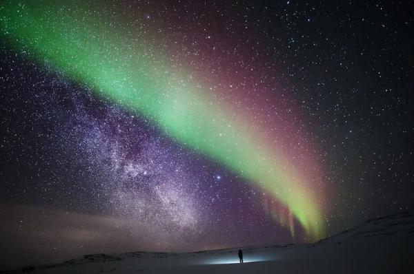 フィンランド北欧の美しい夜空。満天の星の画像 3
