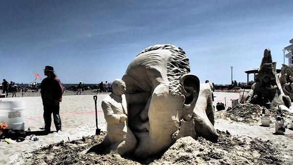砂の彫刻コンテスト ハンプトン・ビーチ (1)
