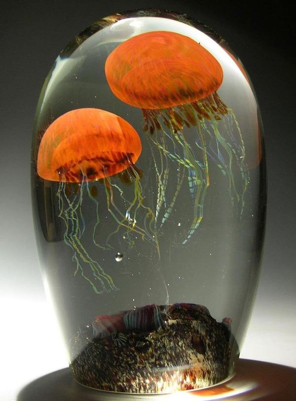 クラゲのガラスアート Richard Satava 16