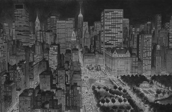 超精密!記憶を頼りに世界の都市景観を描くモノクロ絵画 (14)