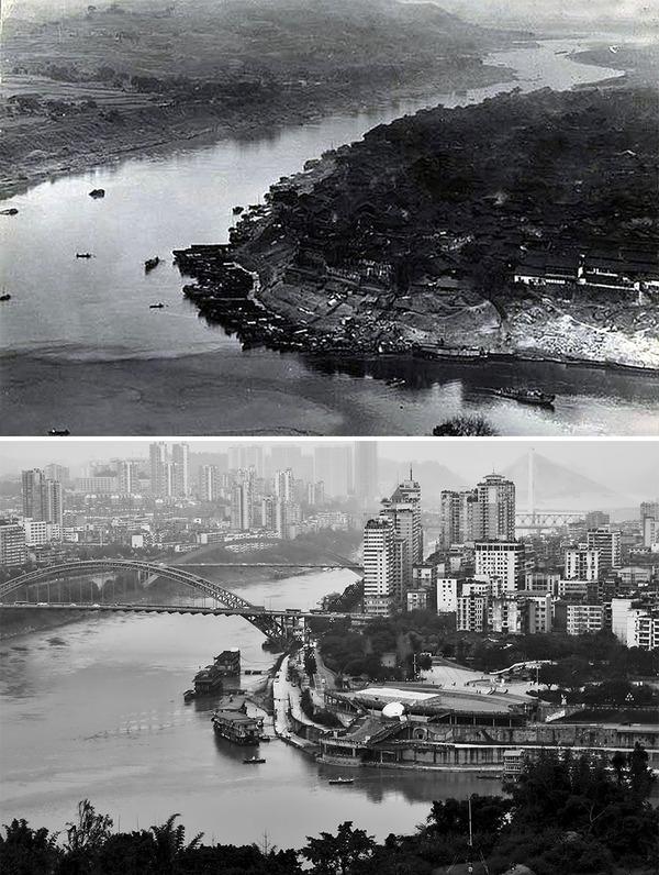 発展した中国の都市風景を比較!過去と現在の画像100年 (13)