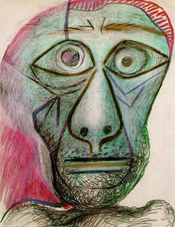 ピカソの自画像!15歳から90歳までの肖像画 (4)