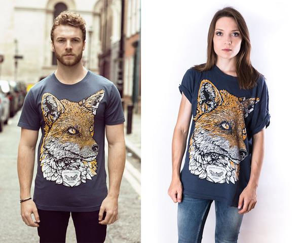 キツネのTシャツ