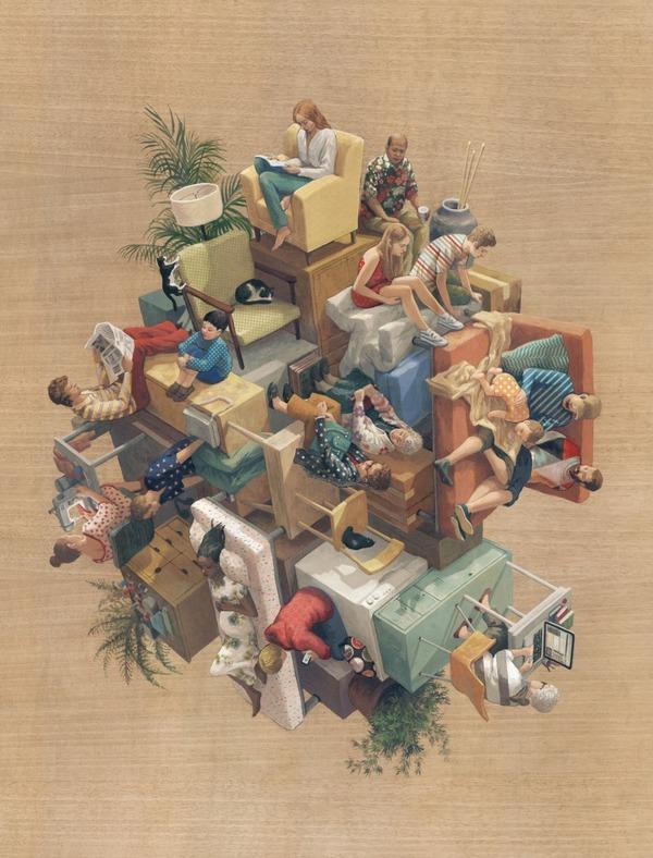 チンダビダルの錯視的絵画アート Cinta Vidalby 6