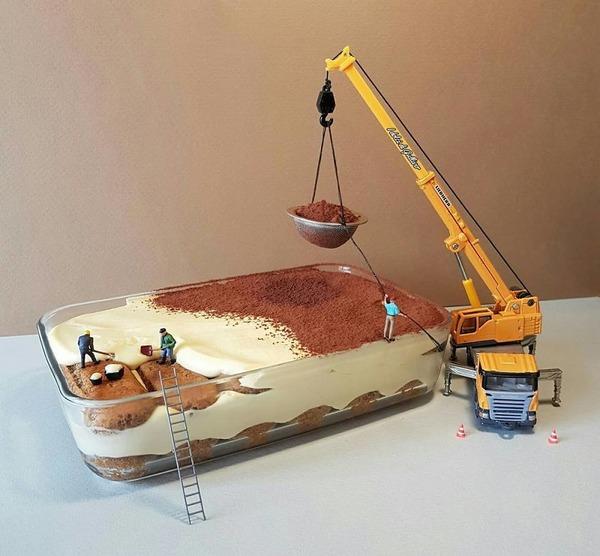 美味しそうな洋菓子で作るミニチュアアート (2)