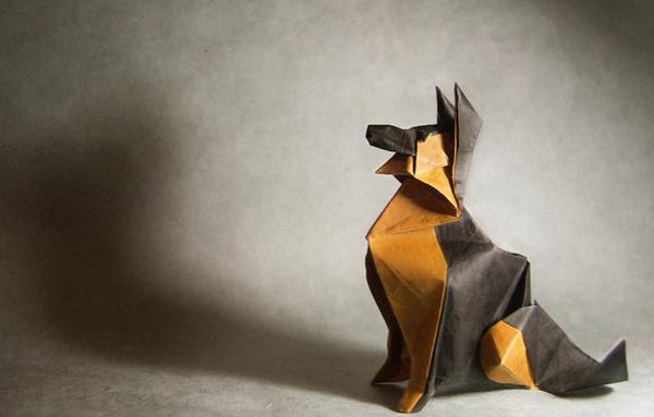 一枚の紙から折り紙で作る動物!折り紙アート (8)