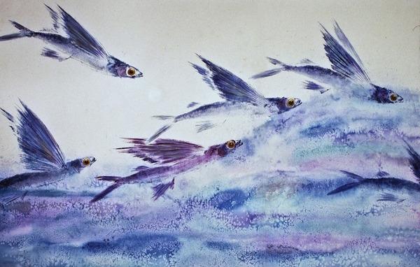 日本文化『魚拓』で描かれる海外アーティストによる絵画作品 (5)