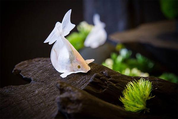 ぷかぷかお茶出すよ!台湾の茶葉が一杯詰まった金魚ティーバッグ (4)