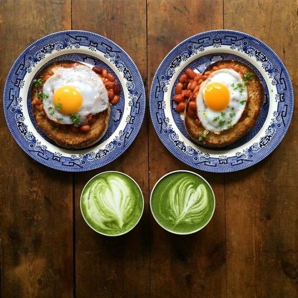 美味しさ2倍!毎日シンメトリーな朝食写真シリーズ (2)